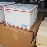 Cubes being delivered and mailed to pick up locations and participants